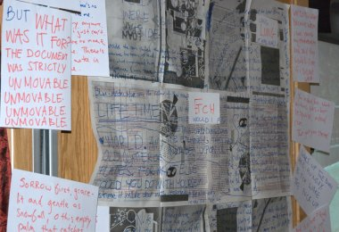 One writer-in-residence slot was filled by a trio of writers who created their own installation