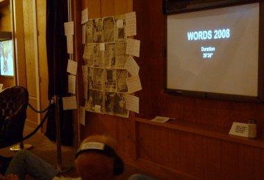 Former BBC producer Susan Kemp created a half-hour documentary film for words 2008