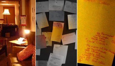 ...and wrote their own material in the writing room, where there was a noticeboard to display the work
